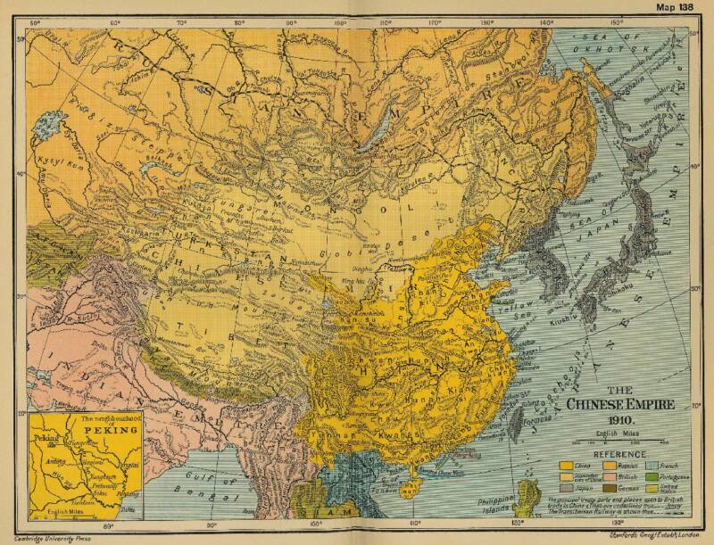 Map of China - Ching Dynasty Empire in 1910 AD