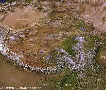 Tibetan Plateaux Satellite Overview
